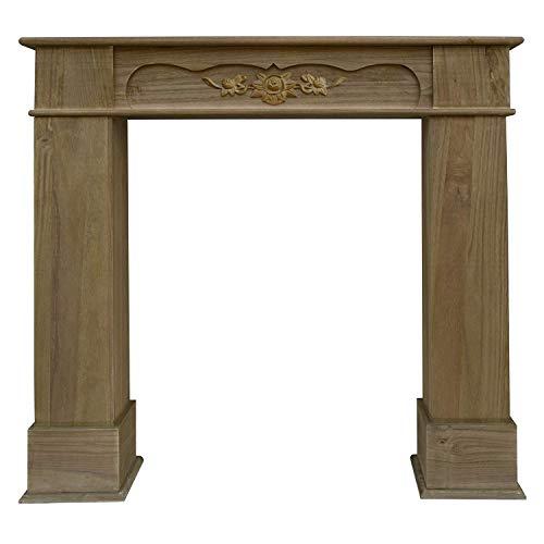 Rebecca Mobili Marco de chimenea decorativo, chimenea falsa imitación estilo clásico, madera,...
