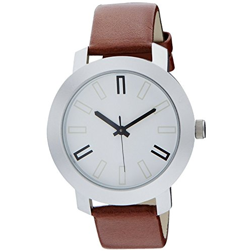 Orayan Men Synthetic Leather Round Brown Analogue Wrist Watch
