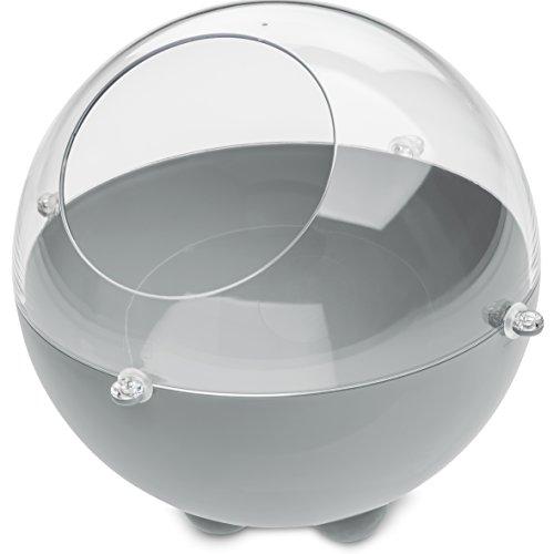 Koziol boîte de Stockage Orion S, thermoplastique, Gris et Transparent, 22,6 x 22,6 x 20 cm