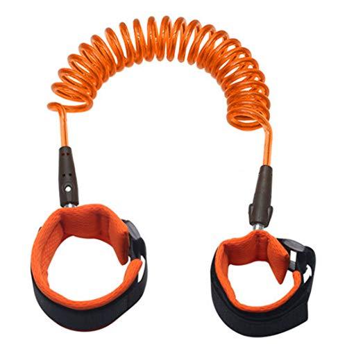sicherheitsseil Kleinkinder Kinder Anti Lost Wrist Link Sicherheitsleine Gurt Band Walking Hand Gürtel Orange ()