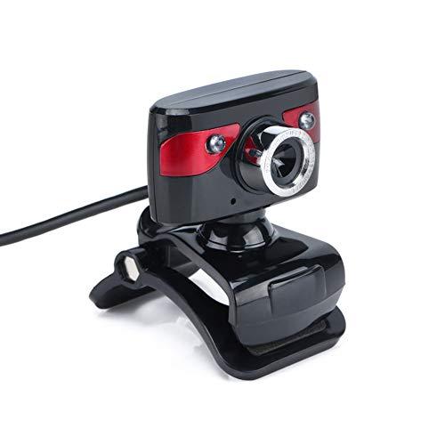 Webcam, HD Kamera, 2 LED Leuchten, 30FPS, Widescreen Video Calling and Recording, Digital Web Camera Mit Mikrofon, Spezialisierte Optische Lens, Für Pc Laptops Desktop 30fps Digital Video