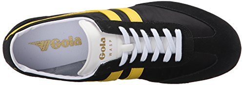 Gola Wasp, Baskets Basses homme Noir - Black (Black/Yellow)