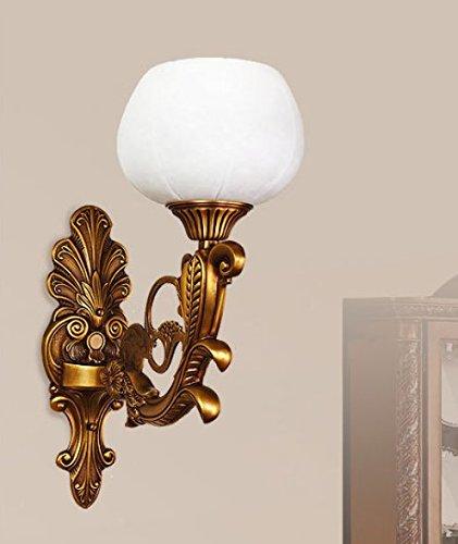 WYMBS Le ville sono lampade hotel continentale deluxe in marmo naturale lampada da parete in rame puro