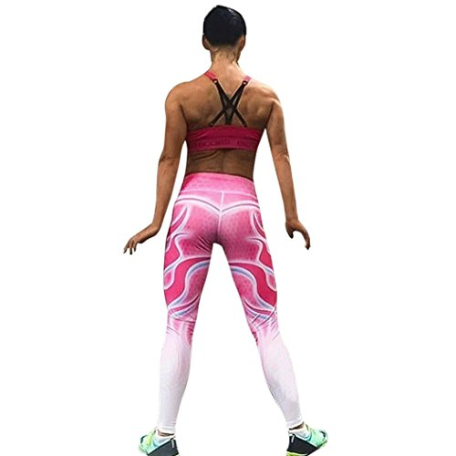 sunshineBoby Frauen-hohe Taillen-Yoga-Eignungs-Gamaschen, Turnhallen-Ausdehnungs-Sport-Hosen-Hose laufen lassen,Jogginghose Yoga Hosen Freizeithosen Lange Hose,Haremshose Joga Fitness (Rosa, XL) (Nike-womens Rosa Socken)