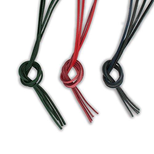 Bunte Ersatz Ledersenkel für Bootsschuhe | rot grün blau | 120 cm 47 inch | Segelschuhe Lederschnürsenkel | Docksider Schnürsenkel Leder | Schuhbänder (Rot) (Louis Vuitton Leder Rot)