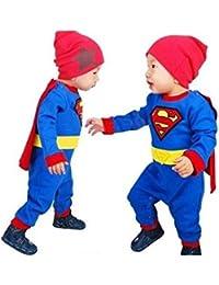 SUPERMAN, déguisement hiver bébé garçon 0 à 2 ans 3/6 mois,6/12 mois,12/18 mois,18/24 mois