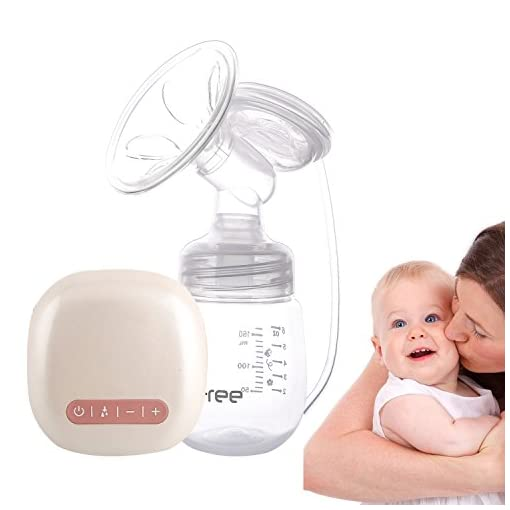 [New Version 2017] Electric Breast Pump (Massage Plus Breast-feeding Dual Mode), with Rechargeable Battery, Multi-frequency Suction Mode and Backflow Prevention Design 41Ikwp 2Bug4L