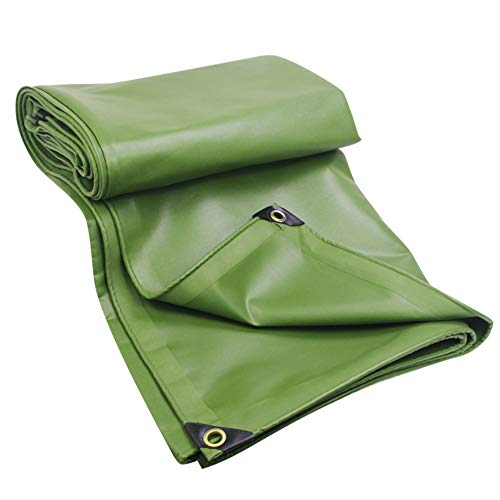 Regenschutzplane Wasserdichter Sonnenschutz Verdicken LKW-Segeltuch-Überdachung im Freien DREI Regenschutzplane LIUDINGDING (Color : Green, Size : 4 * 5m)