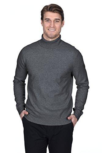 STATE FUSIO langärmliger Pullover aus Kaschmirwolle mit Rollkragen für Herren, Premium-Qualität (Kaschmir-pullover Design)