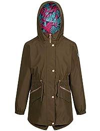 b4d9318b54d5e Regatta Children s Tamora Waterproof and Breathable Fishtail Hem Hooded  Outdoor Jacket