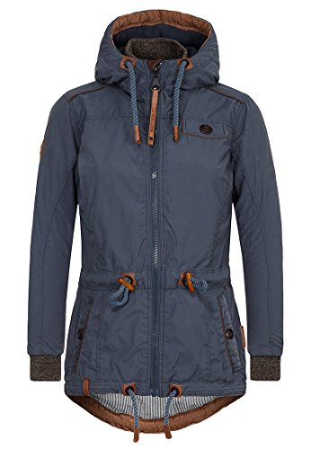 Naketano Female Jacket Schlaubär Dark Bluegrey, XS (Winter Parka)
