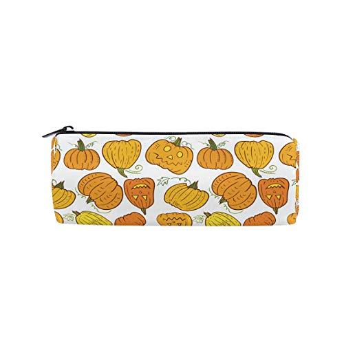 Bonipe Federmäppchen, Halloween, lustiges Kürbis-Muster, für Schule, Schreibwaren, Stiftebox, Reißverschluss