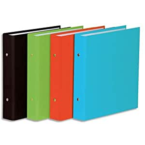 Elba 100201994 Ring Binders 17 x 22 cm with 2 Rings 35 mm Assorted Colours (Pack of 12)