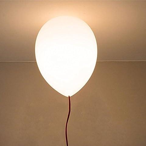 SOOYFS Modernes lustres en style simple,vacances Plafonnier,Colorful ballon Lampe de plafond,chambre d'enfant,1 X E27, Ø 25 cm,6 Couleur (Jaune, blanc, orange, rouge et?vert?bleu)