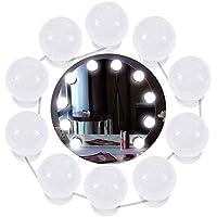 Cozywind Luces de Espejo de Tocador LED Kit con 10 Bombillas Regulables, Estilo Hollywood Tira de Iluminación Foco para Mesa de Maquillaje,Baño,Vestidor