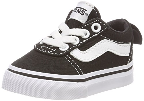 Vans Unisex Baby Ward Slip-ON Sneakers, Schwarz ((Canvas) Black/White 187), 24 EU