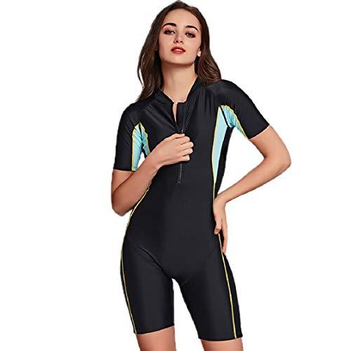 Vaycally Womens Full Wetsuit - Contour Fit, Neoprenanzug mit verstellbarem Nacken, hält die Körperwärme zurück Ladies One Piece Wetsuit, Easy Glide Zip - zum Surfen