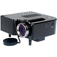 DOHAOOE MP100 Mini Proiettore Video LED HD Portatile, Home Theater Multimediale con HDMI/USB/VGA/AV, e Supporto 1080p