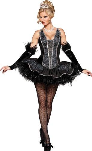 sexy Black Swan Kostüm - schwarzer Schwan, Gr. L (Black Swan Sexy Kostüme)