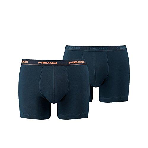 HEAD Men Boxershort Basic Boxer 8er Pack (M, Peacoat/Orange) -