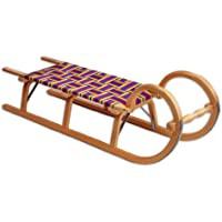 Ress Trineo con asiento trenzado transparente natur lackiert Talla:115 cm