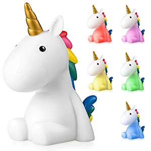 Luz Nocturna Infantil LED Unicornio