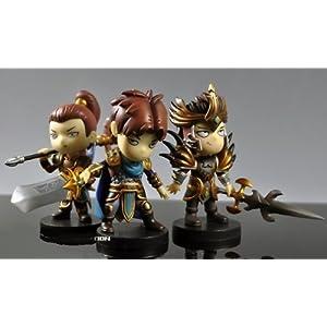 Ocamo Figura de acción de League of Legends 3.5 Q Version SET 3: Garen + Xinzhao + Jarvan IV