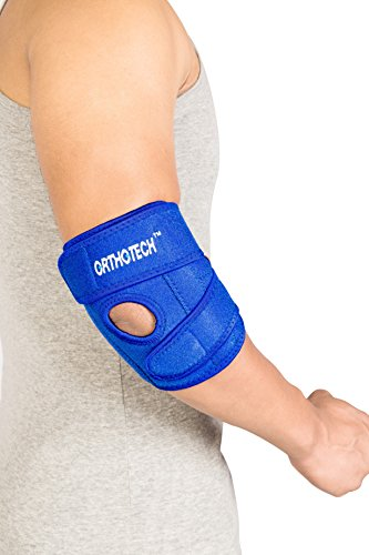 Orthotech OR3112 Elbow Support with Stays, Free Size (Blue)