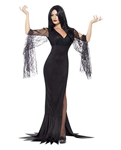 Hexe Morticia Kostümierung M