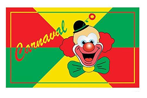 Halloweenia - Karneval Deko Flagge- Banner Clown, 150x90cm, (Kostüm Moderne Zauberer)