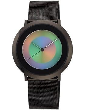 Colour Inspiration Unisex-Armbanduhr Inspiration One life Analog Edelstahl beschichtet I1LBB-MBB-li