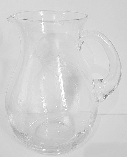 Oberstdorfer Glashütte Krug Antik Stil Dekorativer großer klarer Glaskrug mit Henkel für Wasser,...