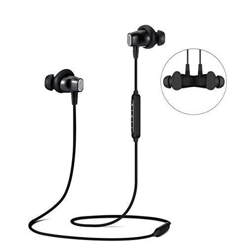 Bluetooth Kopfhörer, ELEGIANT 4.1 In Ear Kopfhörer Wireless IPX4 spritzwasserfest Sport Headset kabelos Magnetisch Stereo Kopfhörer Ohrhörer Headphones bis zu 8 Stunden Spielzeit Ergonomisch gewinkelte Ohrstöpsel mit Mic für Joggen Workout Fitness kompatibel mit ios iPhone 8 7 6s 6 Plus Samsung S8 5S 5 5C Galaxy S6 S7 Edge S5 S4 Mini Nexus HTC Android MP3 und andere Bluetooth Geräte Schnurloses Headset Mic