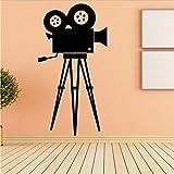 Autocollant Mural Film Caméra Film Outil Pvc Rétro Film Art Mural Amovible Maison...