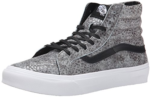 Vans U Sk8-Hi Slim Pebble Snake, Baskets Basses Mixte Adulte Gris (Pebble Snake/Gray/Black)