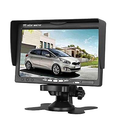 Rckfahrkamera-mit-Stnder-drehbarer-Bildschirm-2-AV-Eingnge-178-cm-7-Zoll-TFT-LCD-800-x-480-cm