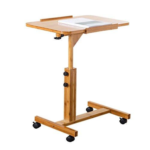 Klapptisch KKY-ENTER Beweglicher fahrbarer mobiler Nachttisch-Laptop-Computer-Schreibtisch-einfacher Schreibtisch-zusammenklappbarer teleskopischer Bewegungs-Qualitäts-Falten-Tabelle (Notebook Fahrbare)