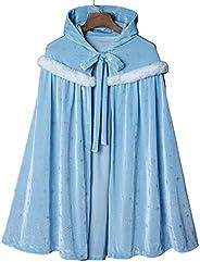 Proumhang Disfraz de niña Capa con Capucha Cosplay Disfraz de Princesa con Estrellas Disfraz de Felpa Hallowee