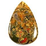 Gems&JewelsHub 69.55CTS 100% naturale designer Rainforest Riolite pietra preziosa pera cabochon sciolto