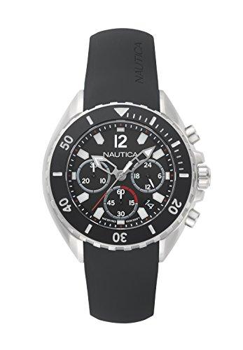 Nautica Orologio Cronografo Quarzo Uomo con Cinturino in Silicone NAPNWP002