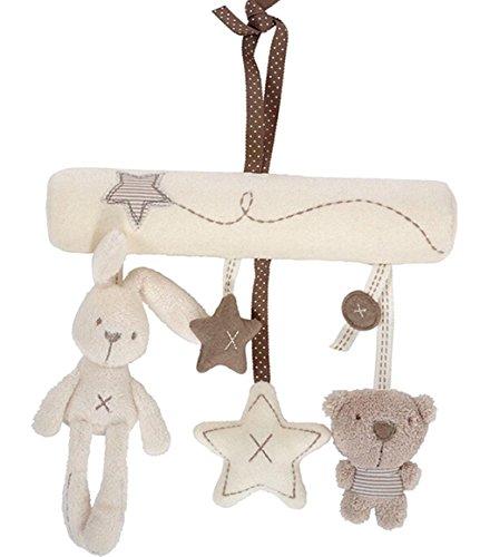 wicemoon Baby Plüsch Spielzeug Hase Stern-Anhänger für Baby Buggy Home Bett Dekoration