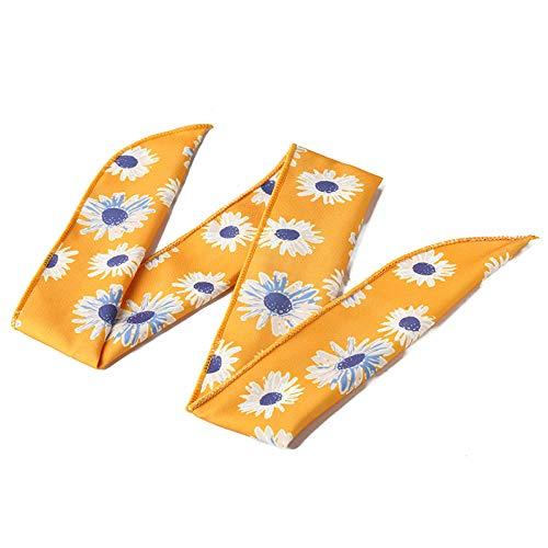 Haarreife Haarband Kopfbedeckung Super Breites Drahtgeflecht Stirnband Außen In Gelb -