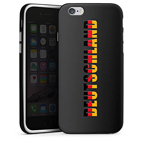 Apple iPhone X Silikon Hülle Case Schutzhülle Deutschland Fußball Flagge Silikon Case schwarz / weiß
