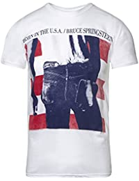 Ripleys Clothing Bruce Springsteen Born in The USA T Shirt (White)