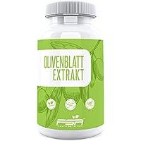 Olivenblatt Extrakt hochdosiert 90 Kapseln, 500 mg Extrakt davon 100 mg Oleuropein (20%) je veganer Kapsel ohne Zusätze - von der Profisport-Marke FSA Nutrition, Hergestellt in Deutschland