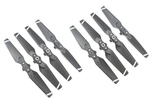 Anbee 8 Propeller Propeller Parts for DJI Spark Drone (White Stripe)