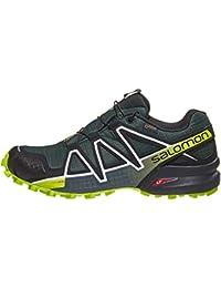 SALOMON Speedcross 4 GTX Shoes Men Darkest Spruce/Black/Acid Lime Schuhgröße UK 9,5   EU 44 2019 Laufsport Schuhe