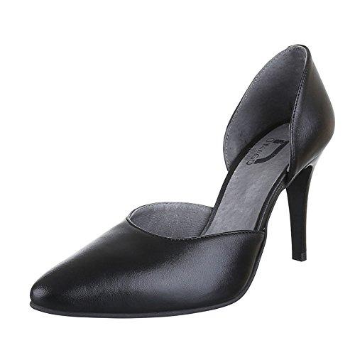 Ital-Design , Escarpins femme Noir - Noir
