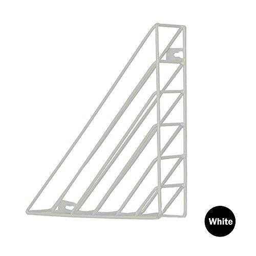 Revistero de pared, rejilla triangular de metal, para montar en la pared,...