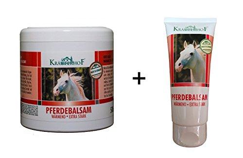 2x Pferdebalsam wärmend extra stark 500 ml + 100 Gel Wärmegel Pferdesalbe Salbe Balsam